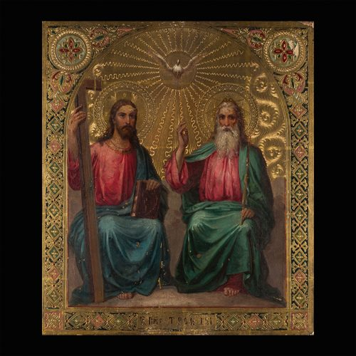 Icono Ruso. Santisima Trinidad. S. XIX.
