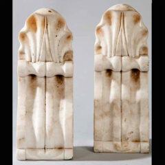 Pareja Mensulas. Marmol blanco. s. XIX - XX_ AnV.17